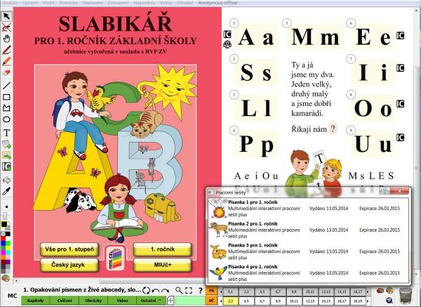 Miuč+ živá abeceda, slabikář, písanka 1-4 (sada) - časově