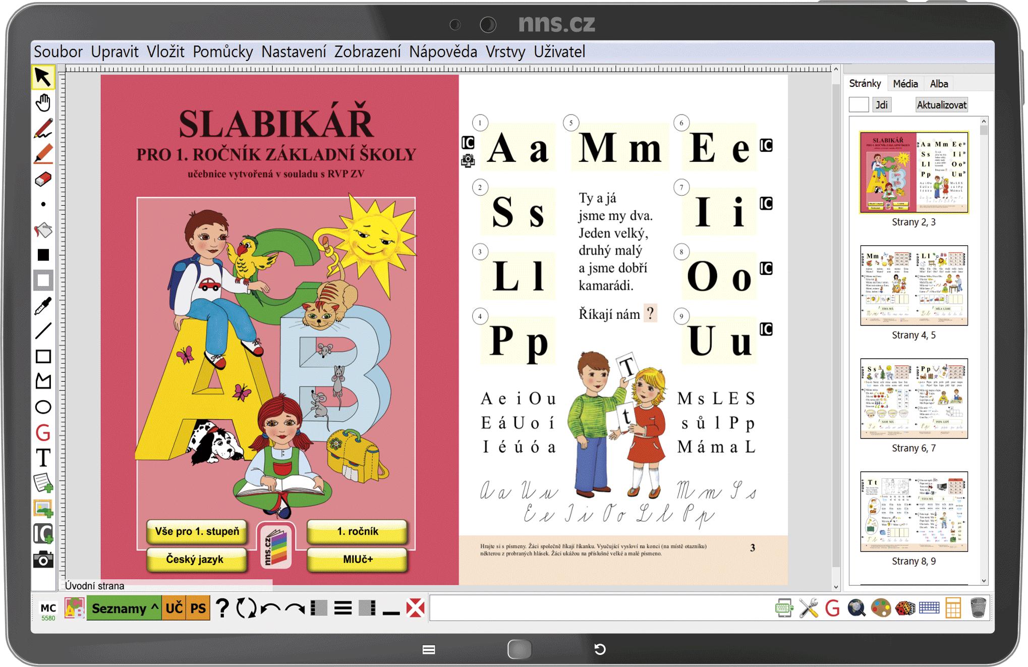 MIUč+ Živá abeceda, Slabikář, Písanka 1-4 (sada) - žák. licence na 1 šk. rok