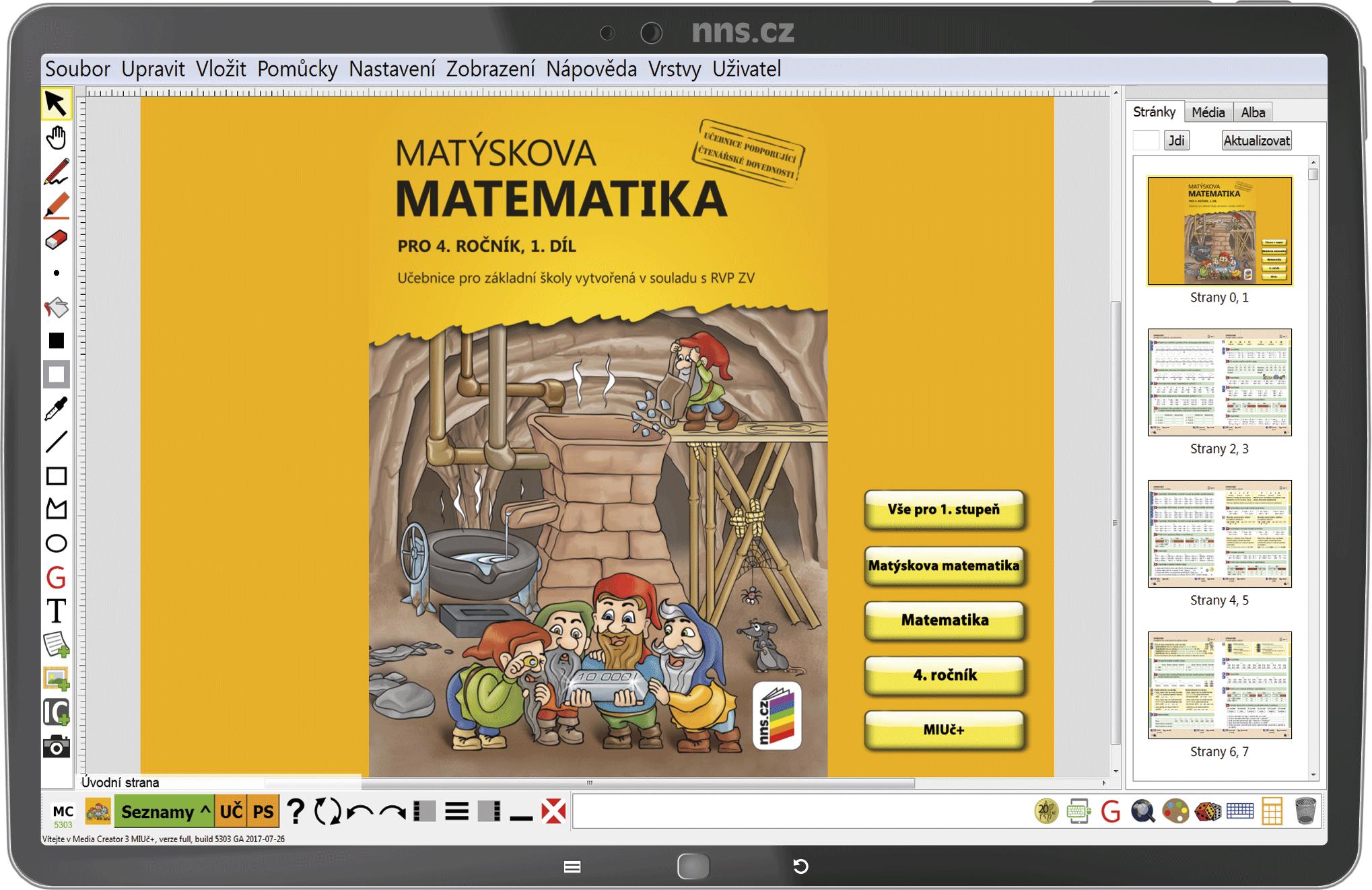 MIUč+ Matýskova matematika 4 (1. díl, 2. díl. a geometrie) šk. multilicence na 1 šk. rok NOVINKA