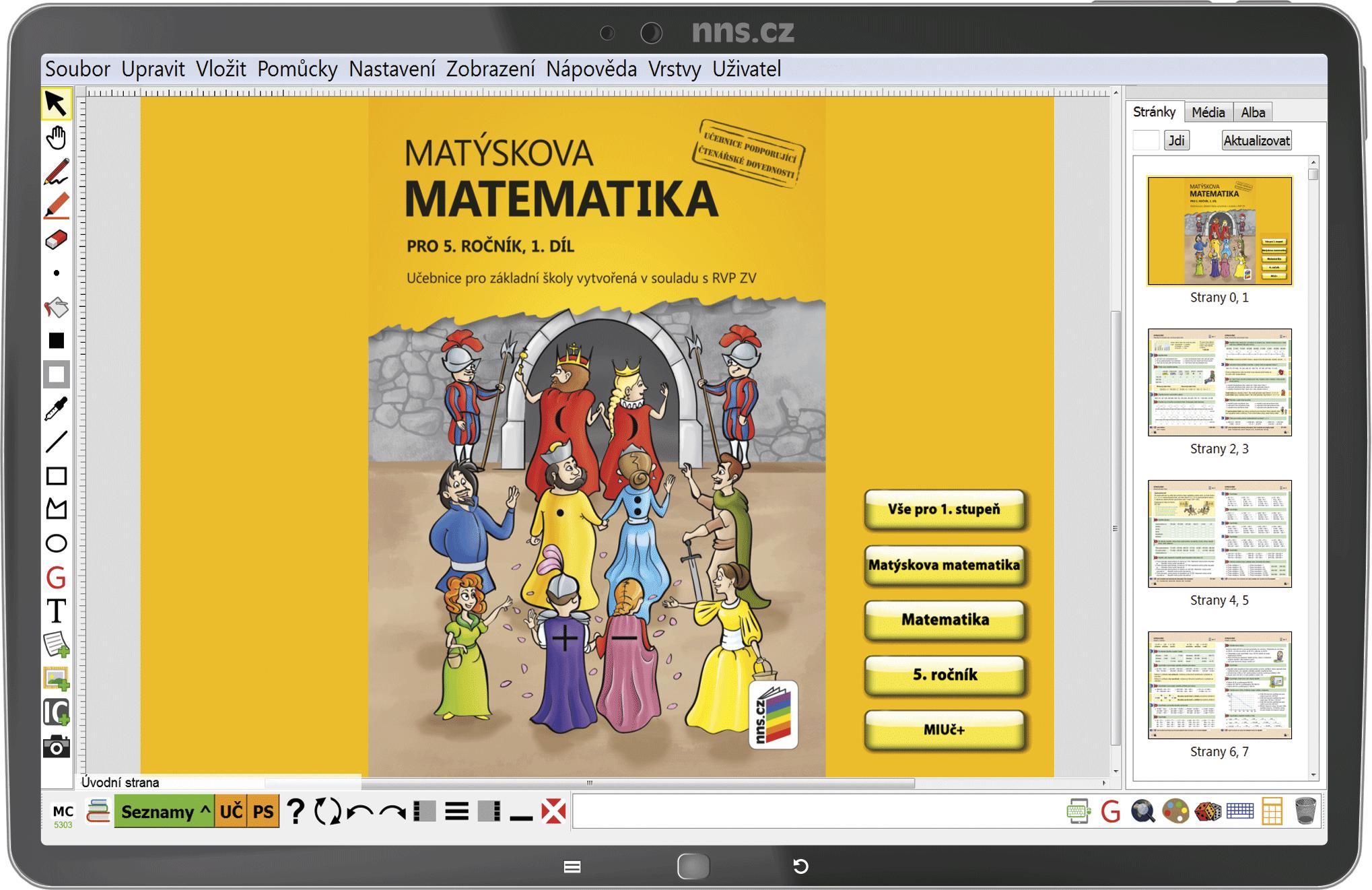 MIUč+ Matýskova matematika 5 (1. díl, 2. díl. a geometrie) šk. multilicence na 1 šk. rok