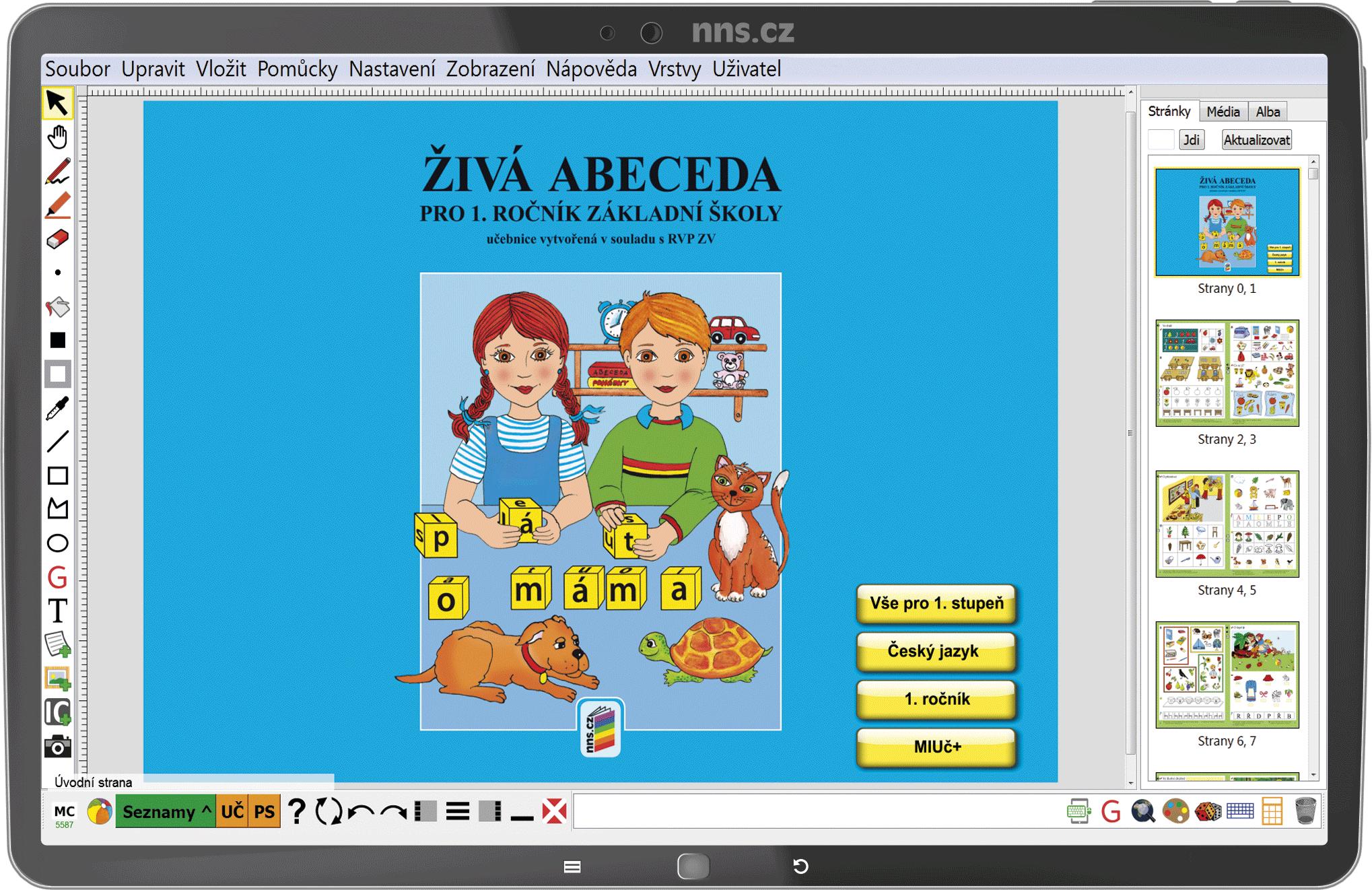 MIUč+ Živá abeceda, Slabikář, Písanky (sada) – Píšeme tiskacím písmem – školní licence pro 1 uči