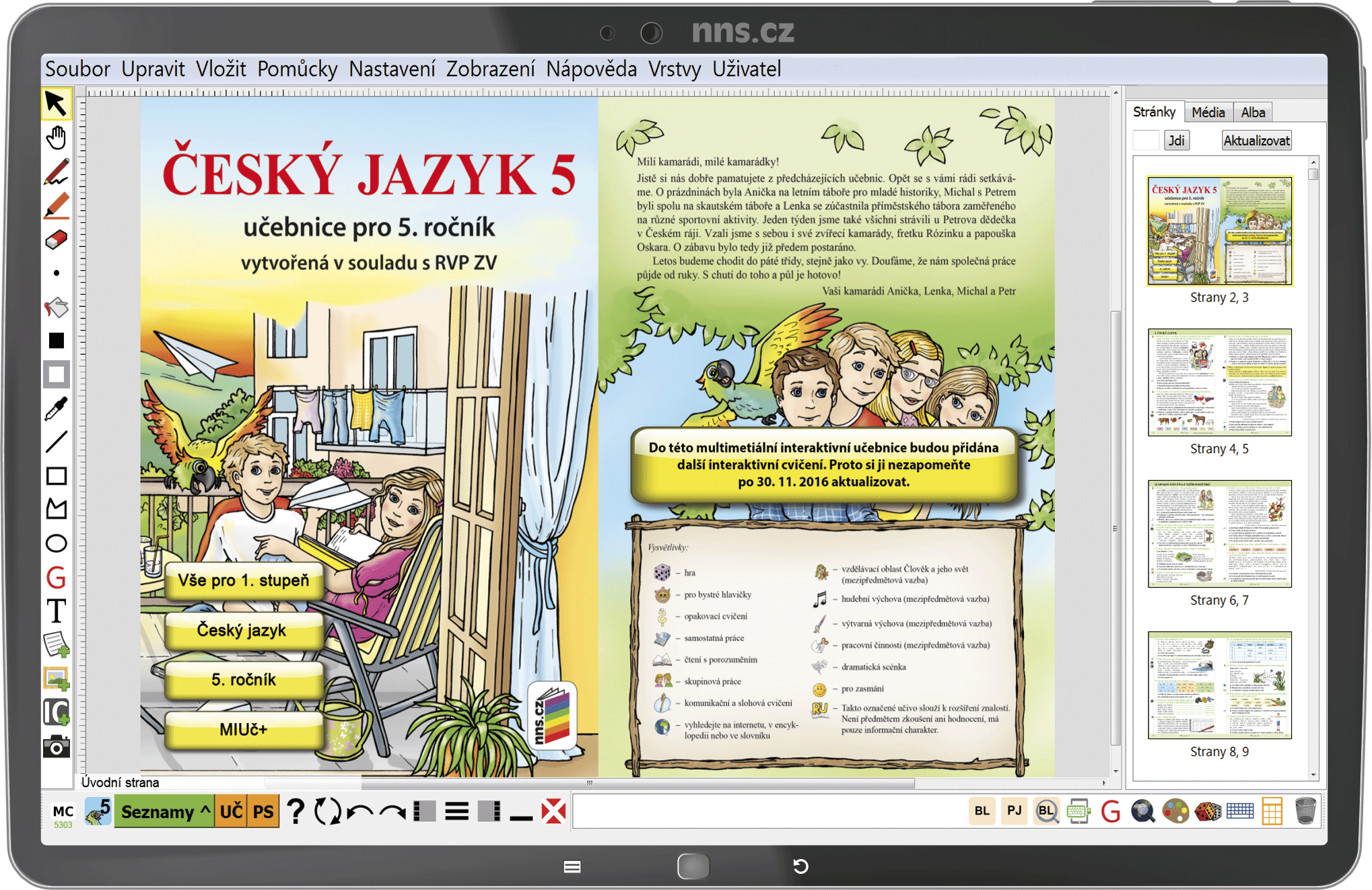 MIUč+ Český jazyk 5 – školní licence pro 1 učitele na 1 školní rok