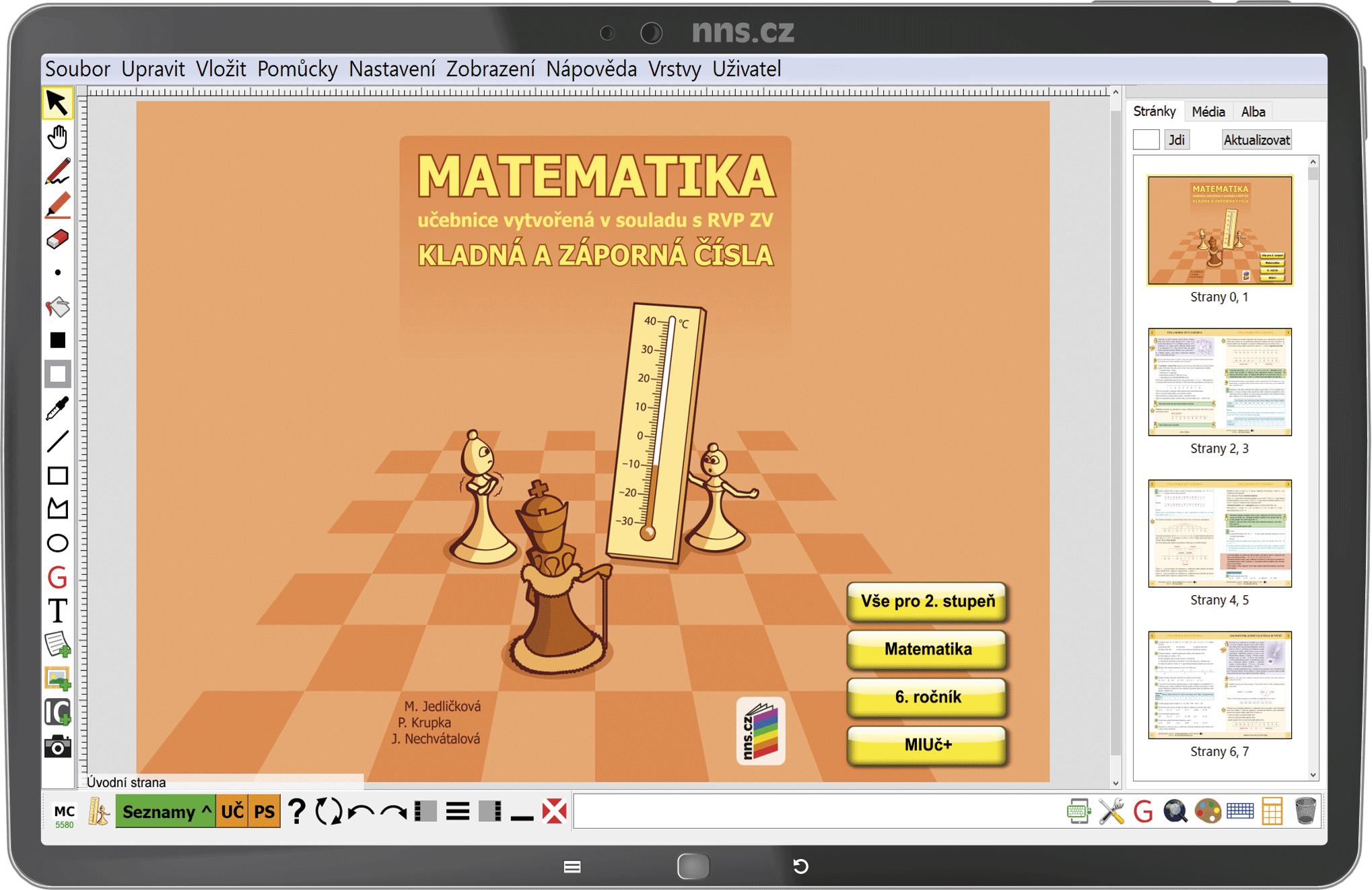 MIUč+ Matematika - Kladná a záporná čísla – školní licence pro 1 učitele na 1 školní rok