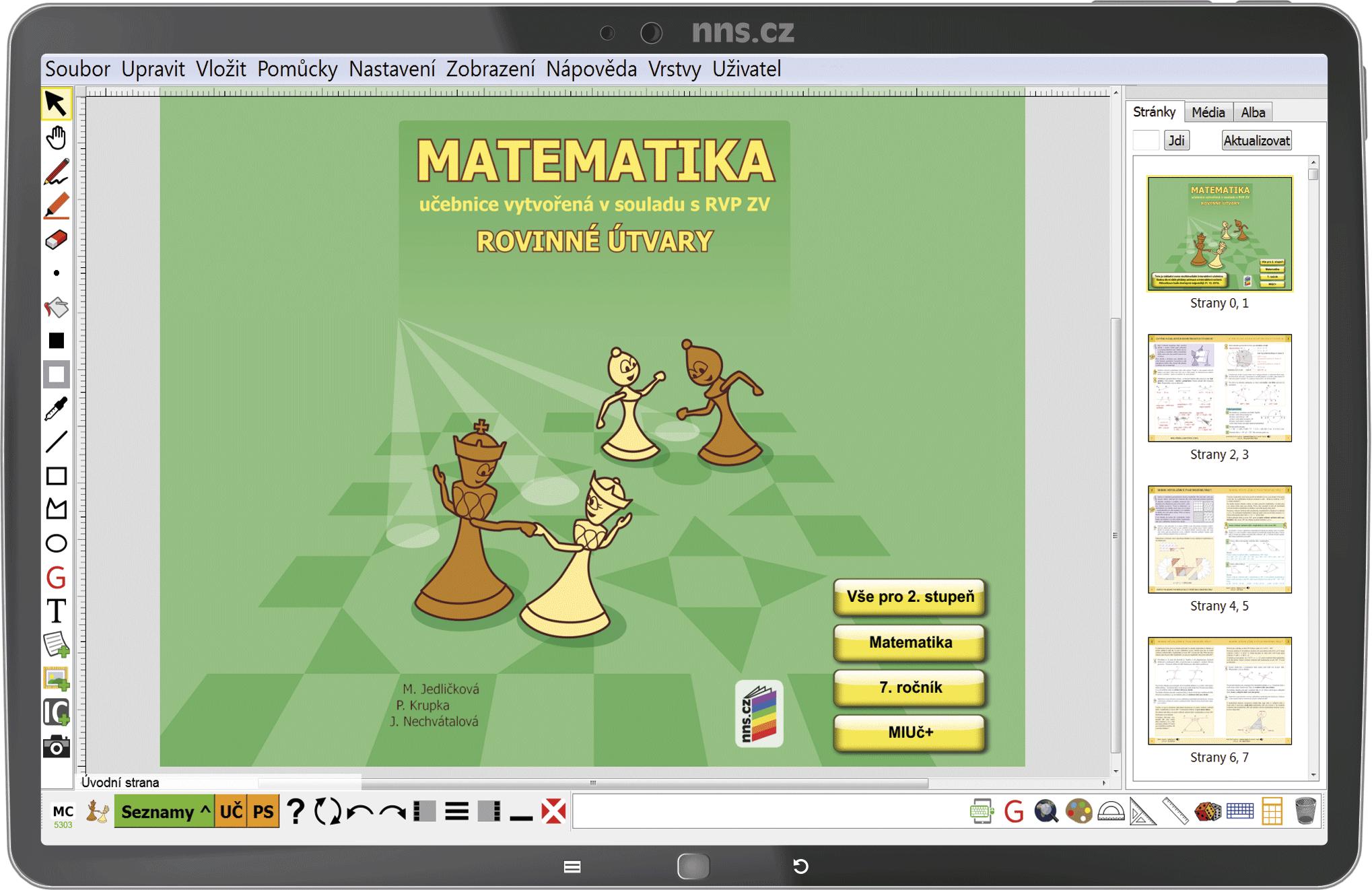 MIUč+ Matematika - Rovinné útvary – školní licence pro 1 učitele na 1 školní rok