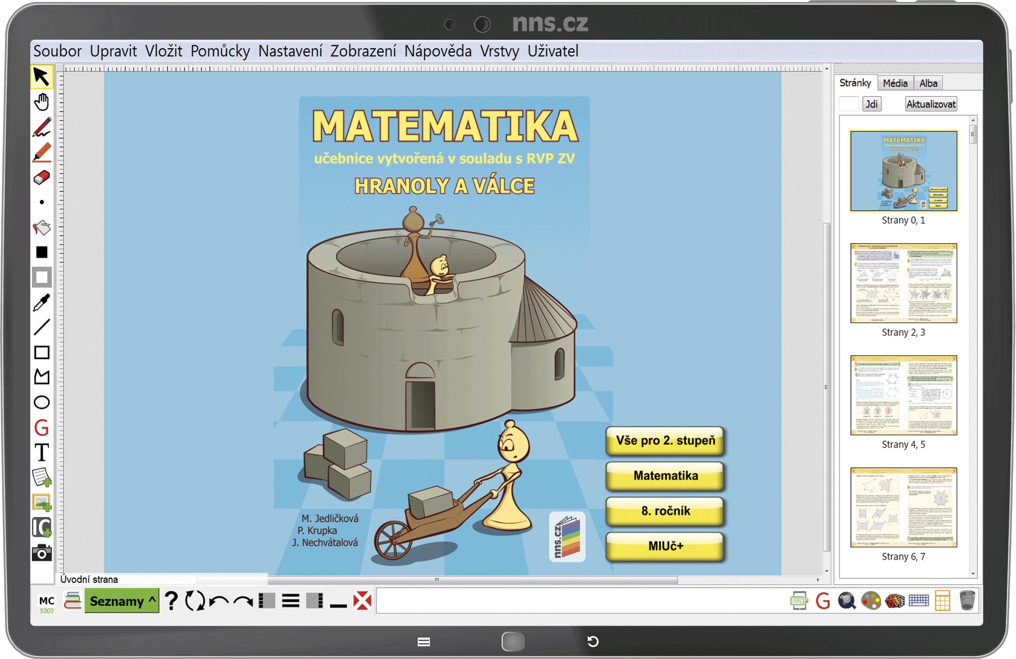MIUč+ Matematika - Hranoly a válce – školní licence pro 1 učitele na 1 školní rok