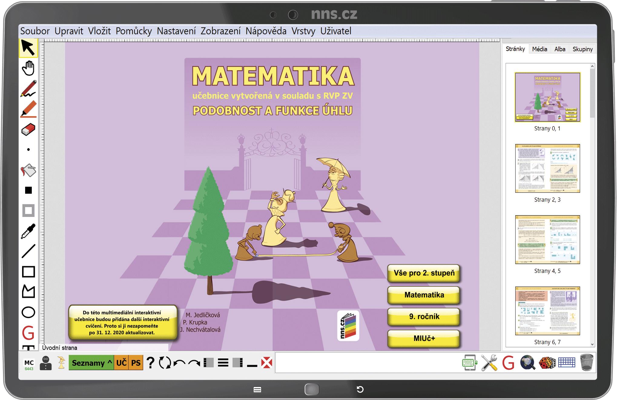 MIUč+ Matematika - Podobnost a funkce úhlu – školní licence pro 1 učitele na 1 školní rok