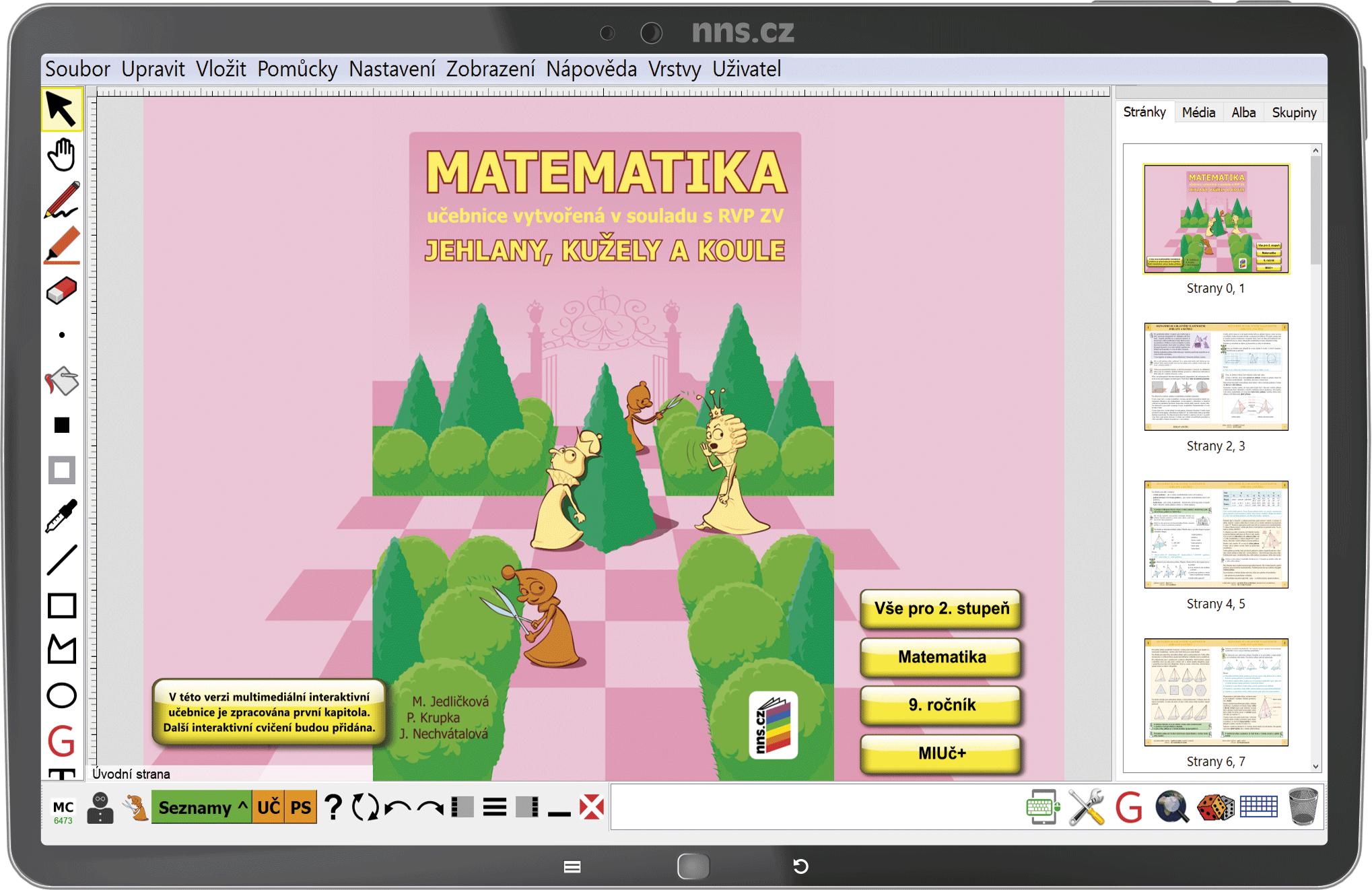 MIUč+ Matematika - Jehlany, kužely a koule – školní licence pro 1 učitele na 1 školní rok