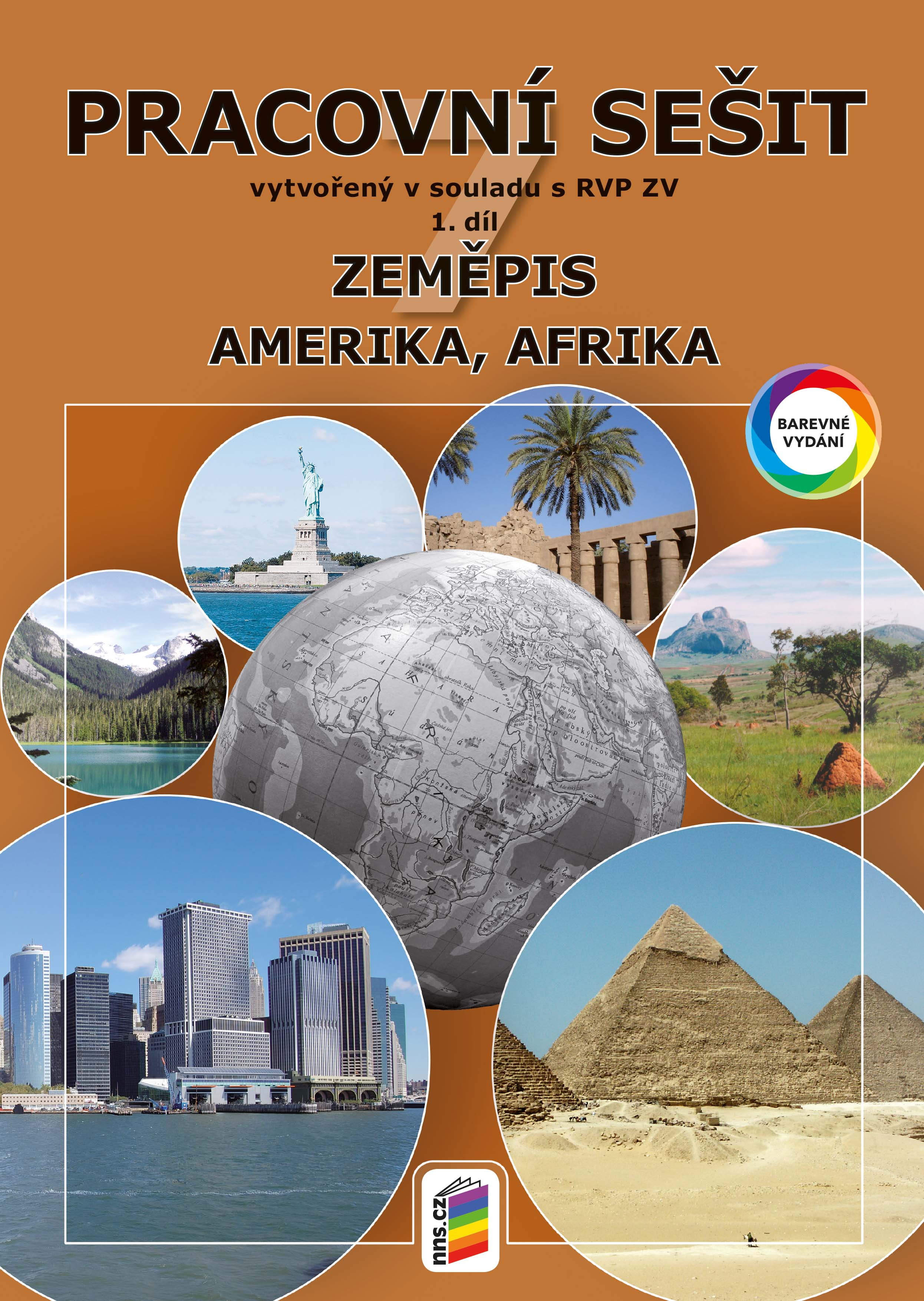 Zeměpis 7, 1. díl - Amerika, Afrika (barevný pracovní sešit)