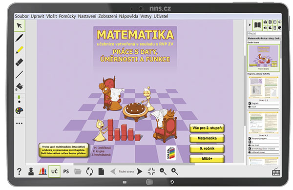 MIUč+ Matematika - Práce s daty, úměrnosti a funkce  - časově neomezená školní multilicence