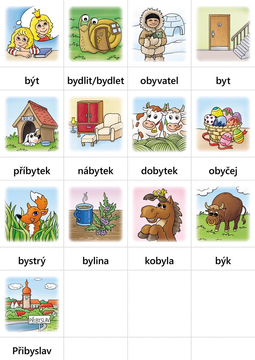 Hry s vyjmenovanými slovy (SOUBOR KARET)