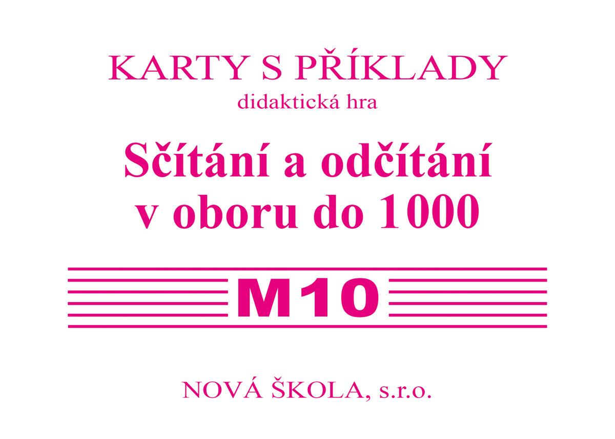 Sada kartiček M10 - sčítání a odčítání v oboru do 1000