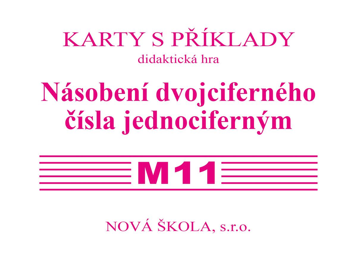 Sada kartiček M11 - násobení dvojciferného čísla jednociferným