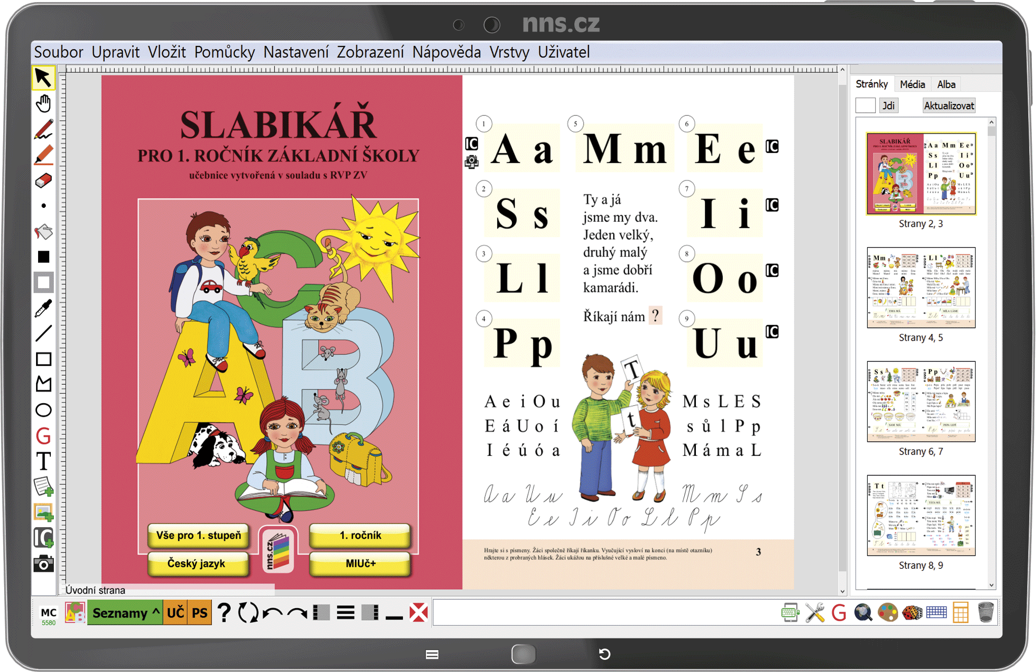 MIUč+ Živá abeceda, Slabikář, Písanka 1-4 (sada) - časově neomezená školní multilicence